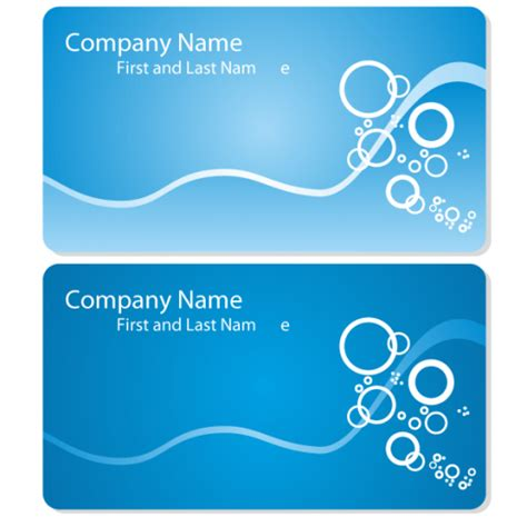 free vector business card templates sea business card template free vector ai eps cdr free