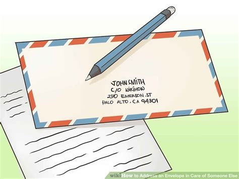 How To Address A Letter Care Of Howsto Co by 3 Easy Ways To Address An Envelope In Care Of Someone Else