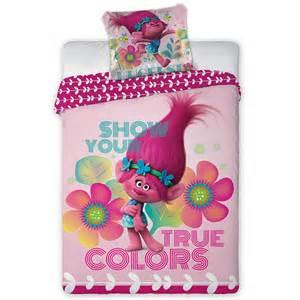 Marvel Duvet Set Trolls Poppy Single Cotton Duvet Cover And Pillowcase Set