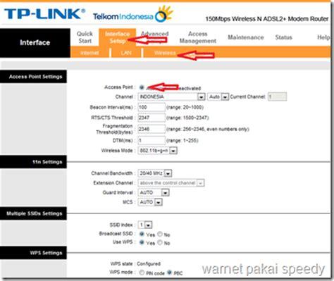 Modem Speedy Adsl Tp Link Td W8951nd setting modem adsl2 tp link td w8951nd sebagai wireless access point wap jatibarang