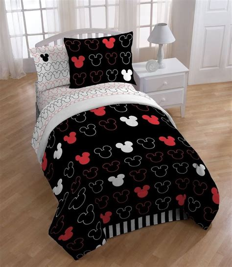 mickey mouse comforter disney mickey love comforter with sham set twin ebay