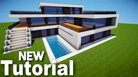 how to build a modern house in minecraft minecraft how to build a realistic modern house best mansion 2016 tutorial youtube