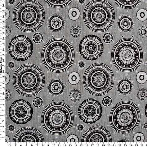 Upholstery Fabric With Circles by Silver Trimmed Circles On Upholstery Fabric Tag