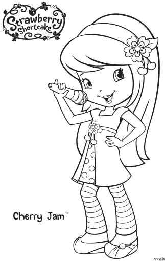 12 strawberry shortcake birthday party printable coloring