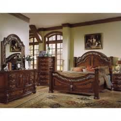 Panel Bedroom Set samuel lawrence san marino panel bedroom set in dark brown 3530 set