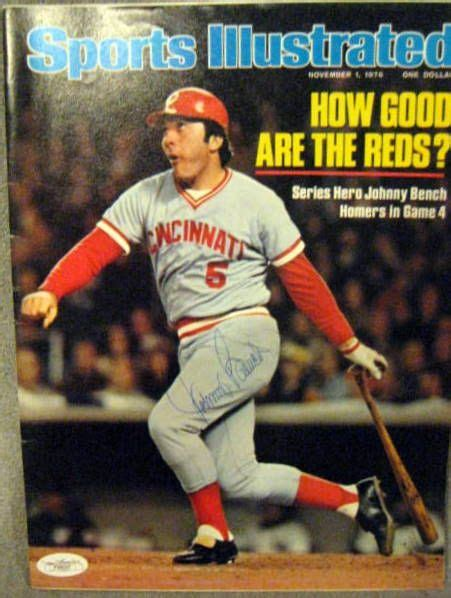 johnny bench signature lot detail johnny bench signed sports illustrated w jsa coa