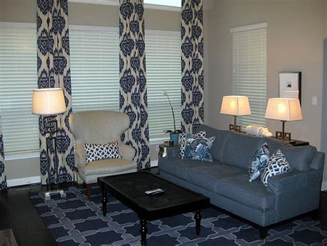 blue curtains transitional bedroom  home  arkansas