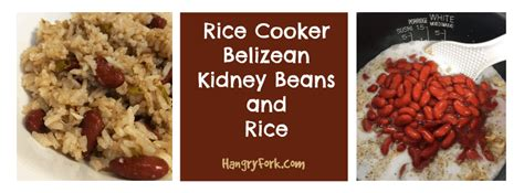 cooker vegetarian rice recipes vegetarian belizean kidney beans and rice hangry fork