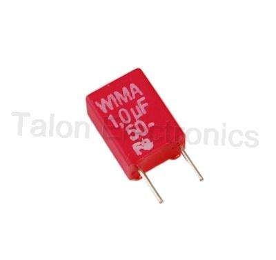 wima mks capacitors 1 0uf 50vdc wima mks 2 radial box capacitor