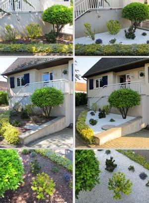 vorgarten mit kies gestalten gartenplanung ideen zur vorgartengestaltung mit kies und split
