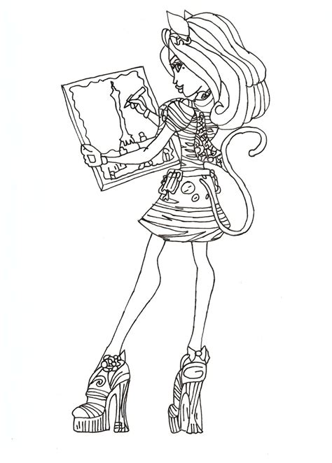 monster high rochelle coloring pages monster high rochelle coloring pages getcoloringpages com