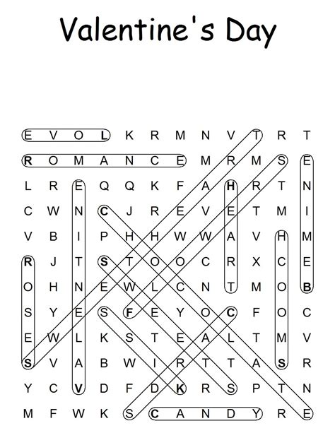 s day puzzle valentines word search printable search results