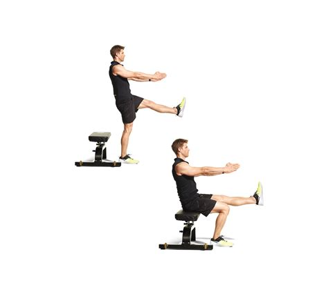 squat on bench single leg squat to bench men s fitness
