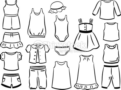 10 Trotro Blouse contours of clothes for vector thinkstock