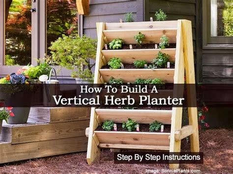 How To Make A Vertical Herb Garden How To Make A Vertical Herb Planter Step By Step