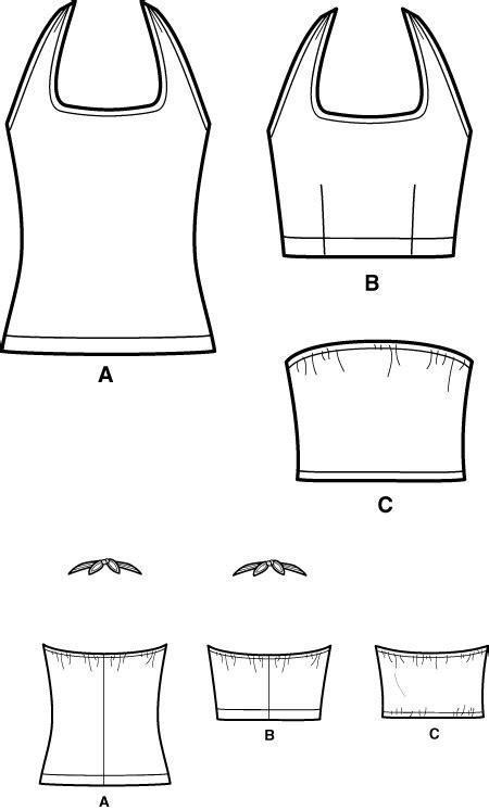 pattern drafting halter top simplicity 5529 halter top
