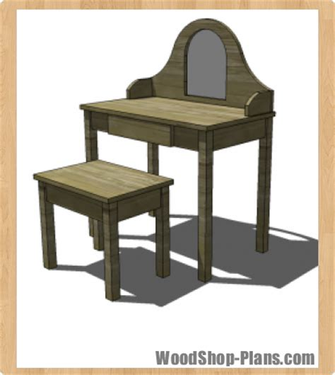 vanity table plans woodworking wood working instant get design woodworking apron