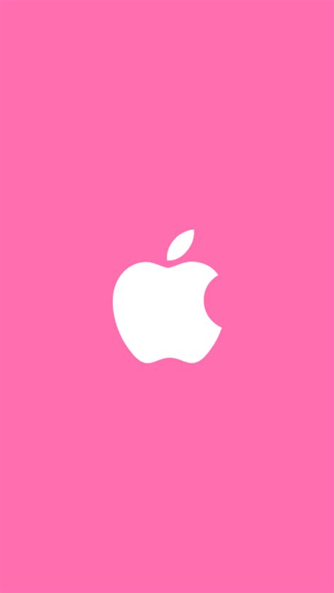 white apple pink background  iphone wallpapers