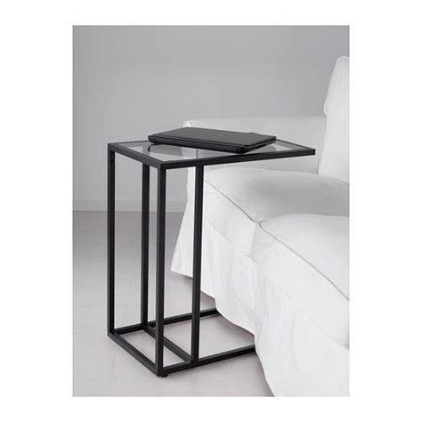 Laptop Desk Stand Ikea Laptop Stand Side Coffee Table Black Brown Frame Glass Metal Ikea Vittsjo Modern Gardens