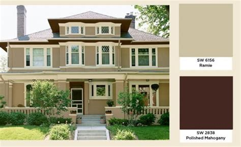 house colors that compliment a brown roof search exterior paint ideas