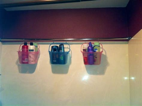 shower curtain caddy shower curtain rod caddy crafts things pinterest