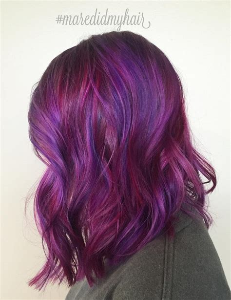 how to get purple hair color 40 versatile ideas of purple highlights for brown