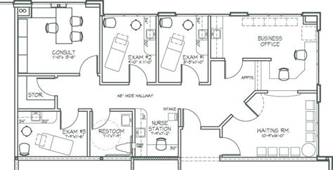 medical clinic floor plan exles medical office design plan newer features nearer