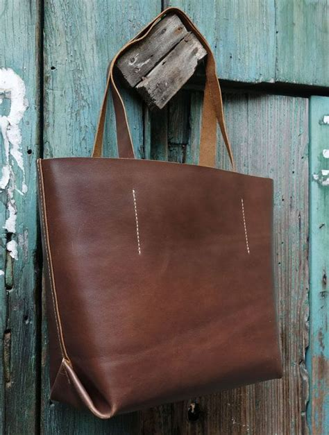 Handmade Hobo Bags - 045 handmade brown leather tote bag carryall shopper bag