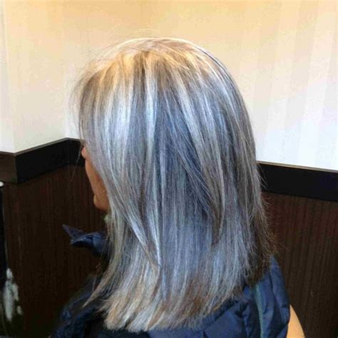 how to grow in gray hair with highlights 25 best ideas about long gray hair on pinterest long