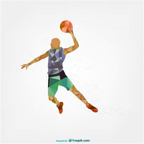 sports player geometric template vector free download