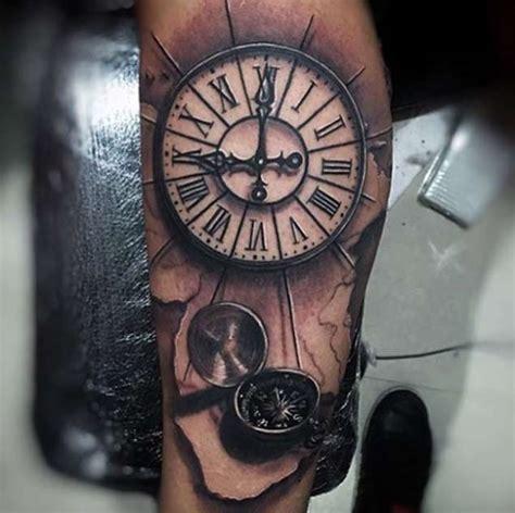 old clock tattoo 42 friggin amazing compass tattoos tattooblend