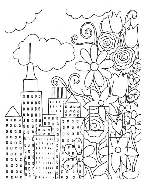 free coloring book pages free coloring book page flowers unicorn