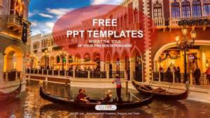 Powerpoint Templates Tourism by Gondolas With Tourists In Venice Travel Powerpoint Templates