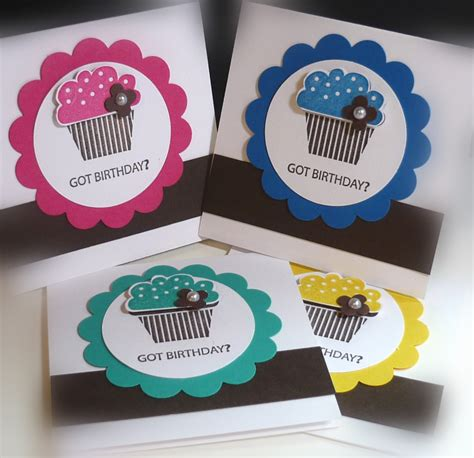 cupcake cards to make me my sts and i got birthday