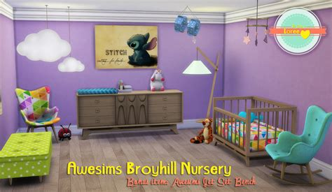 sims 4 nursery my sims 4 blog awesims broyhill nursery set conversion by