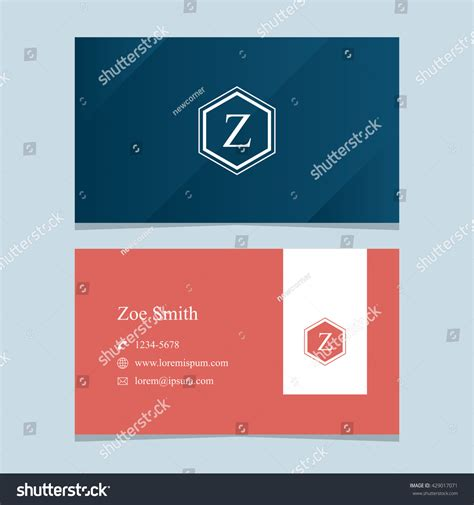 z graphic bussiness cards template logo alphabet letter z business card stock vector