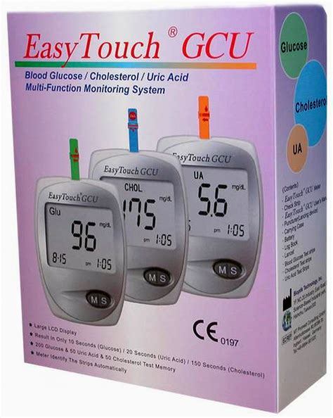 1x easytouch gcu glucose cholesterol uric acid blood