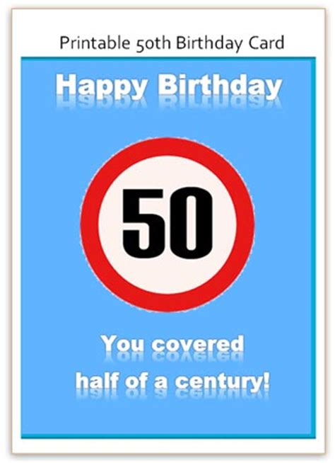 free templates for awesome 50th birthday cards 50th birthday card free word template