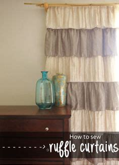 how to sew ruffles on curtains gypsy ruffled curtain panel great price for a ruffle