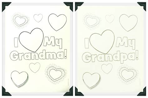 grandparents card template 6 best images of grandparents day printable coloring cards