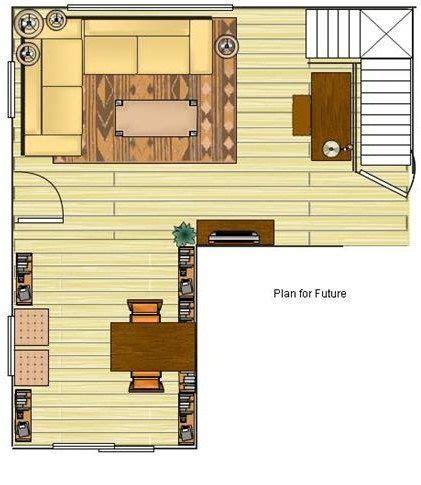 weird  shaped living room     solution   home decor