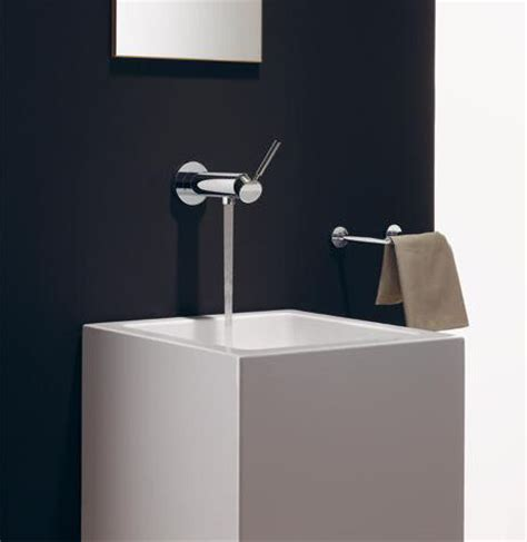 dornbracht tara logic wall mounted single lever basin faucet