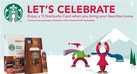 Starbucks 5 Gift Card Buy 3 - starbucks 5 gift card offer my frugal adventures