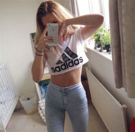 Top Fonny Blouse top crop tops t shirt blouse adidas sadidas