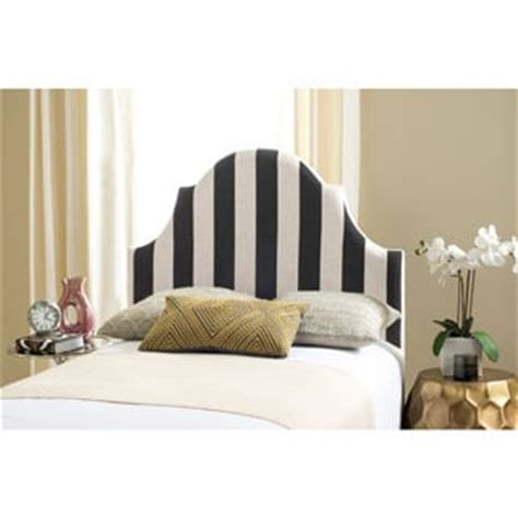 black and white striped headboard safavieh connie black and white stripe upholstered