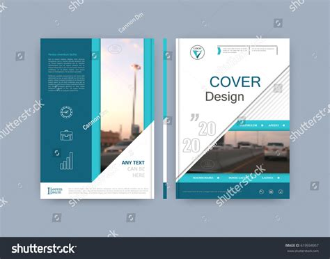 brochure template book cover design title stock vector