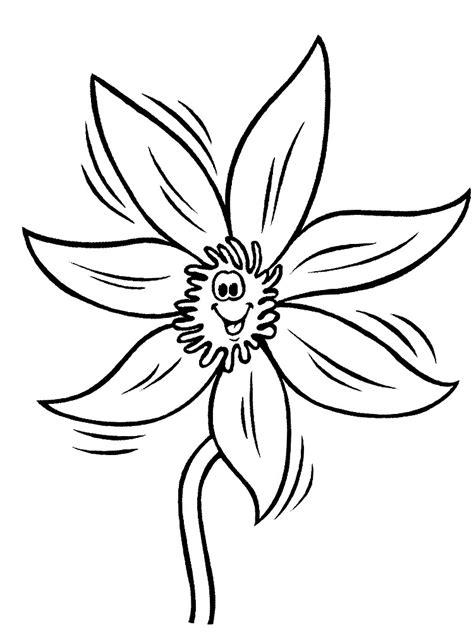 imagenes infantiles para colorear de flores flores dibujos animados infantiles para colorear
