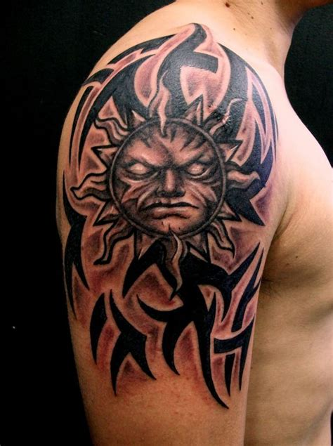 tattoo sol tribal aluvha tattoo alain head artelista
