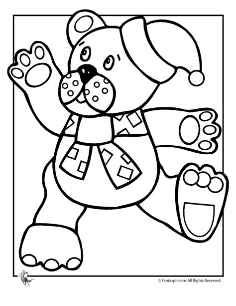 christmas coloring pages teddy bear christmas bear pictures cliparts co