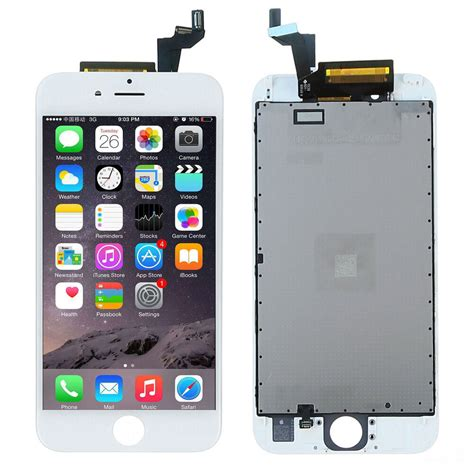 for iphone 6s 4 7 quot white lcd display touch screen digitizer assembly top a ebay